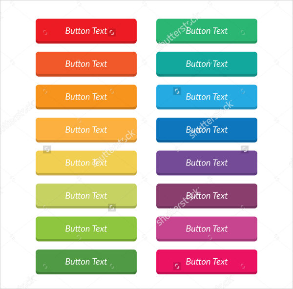 flat web buttons