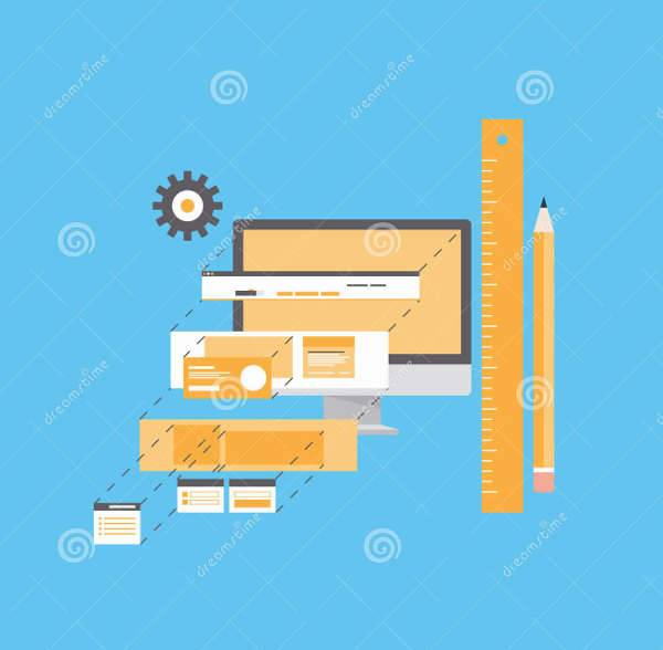 Flat Website Development Illustration