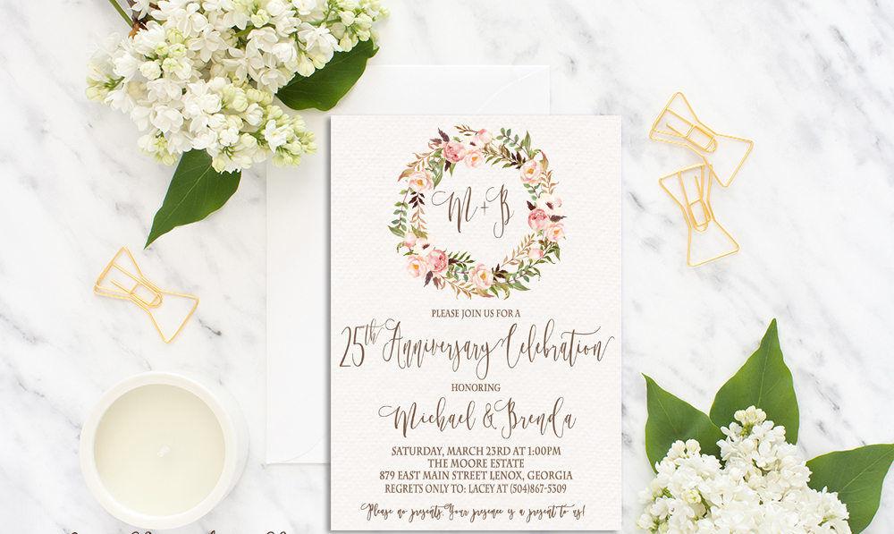 Floral Watercolor Invitation