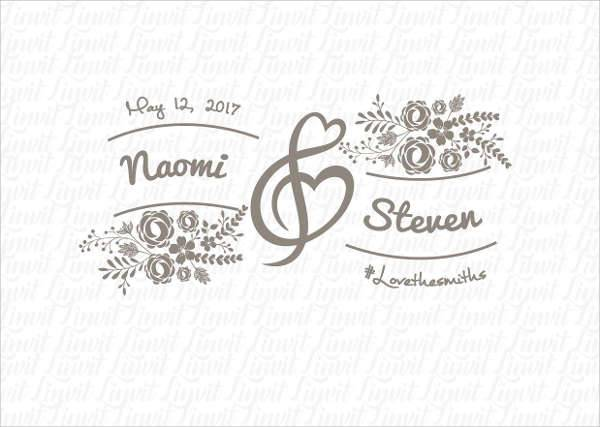 Floral Wedding Logo Template