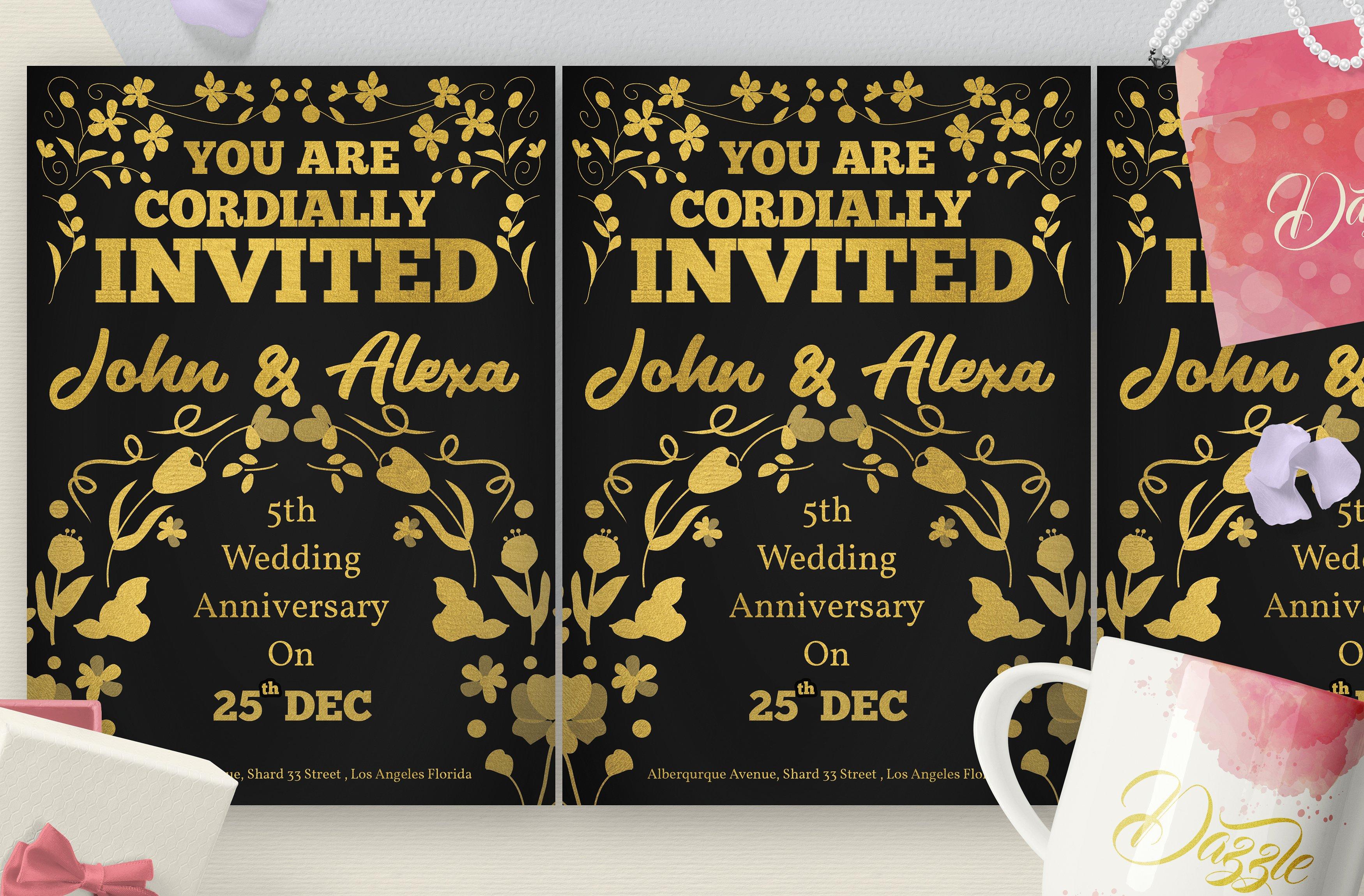 Florist Wedding Anniversary Card