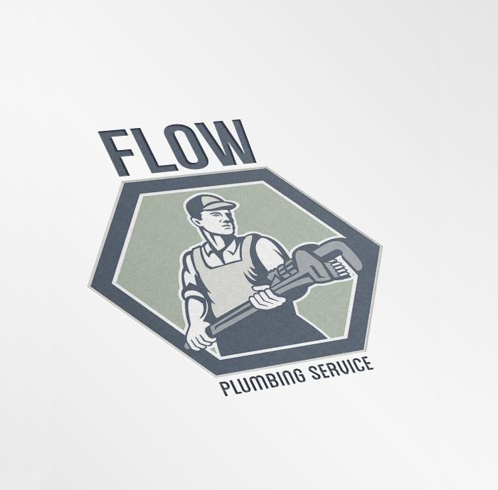flow plumbing service logo