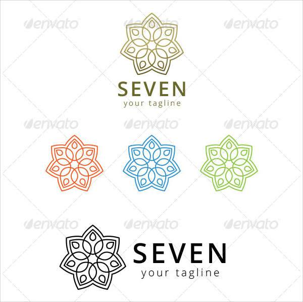 flower vintage ornaments logo