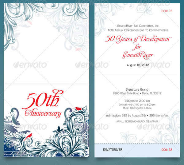 39 Ticket Design Templates – Ball Ticket Template