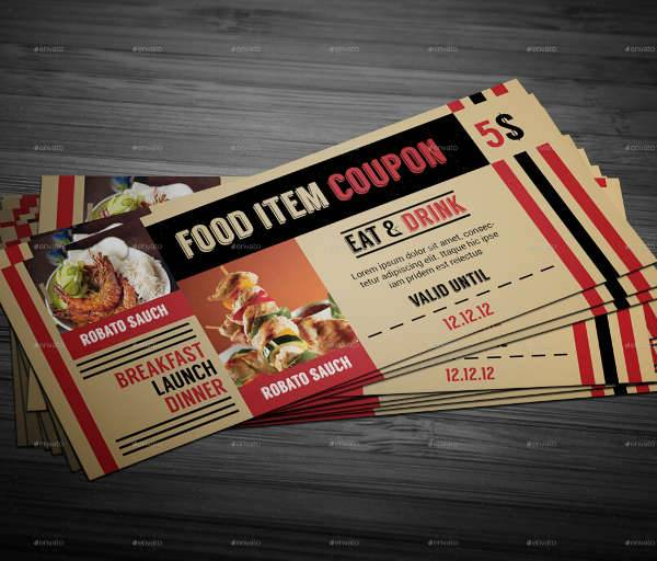26 coupon design templates design trends premium psd for Free meal coupon template