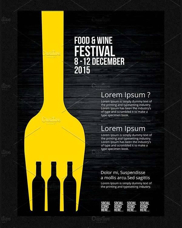 Food Festivals Flyer