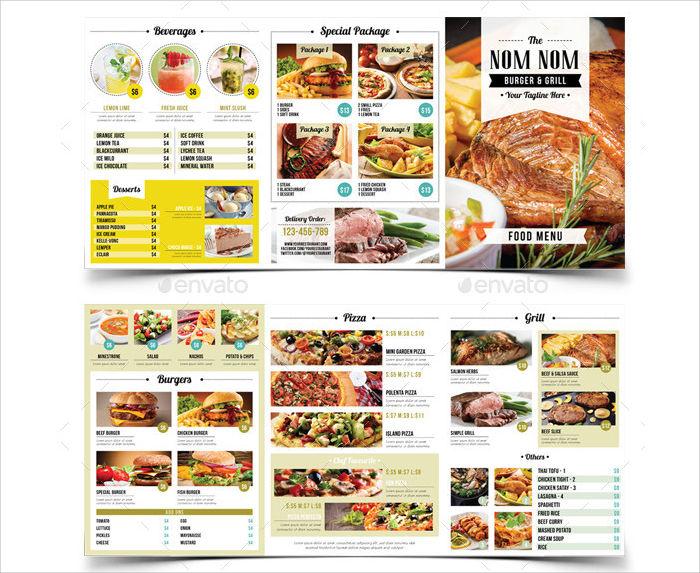 food menu package