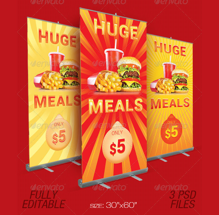 food promotion outdoor banner