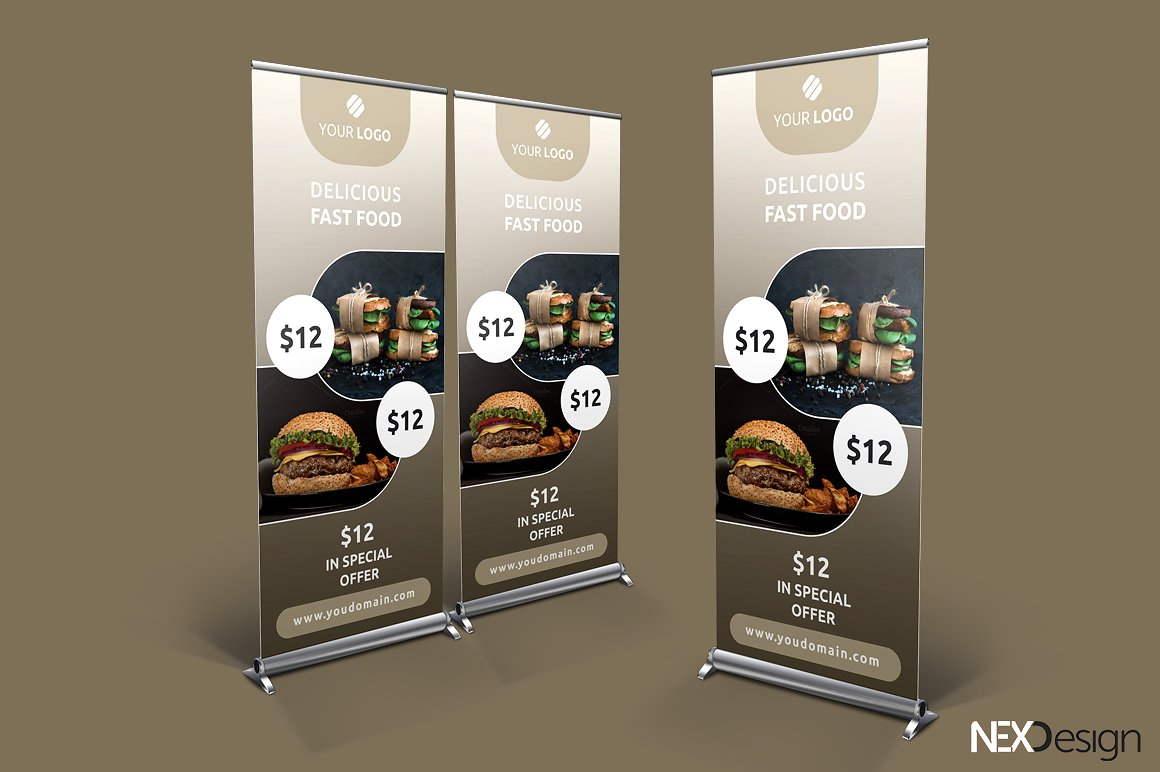 food roll up banner