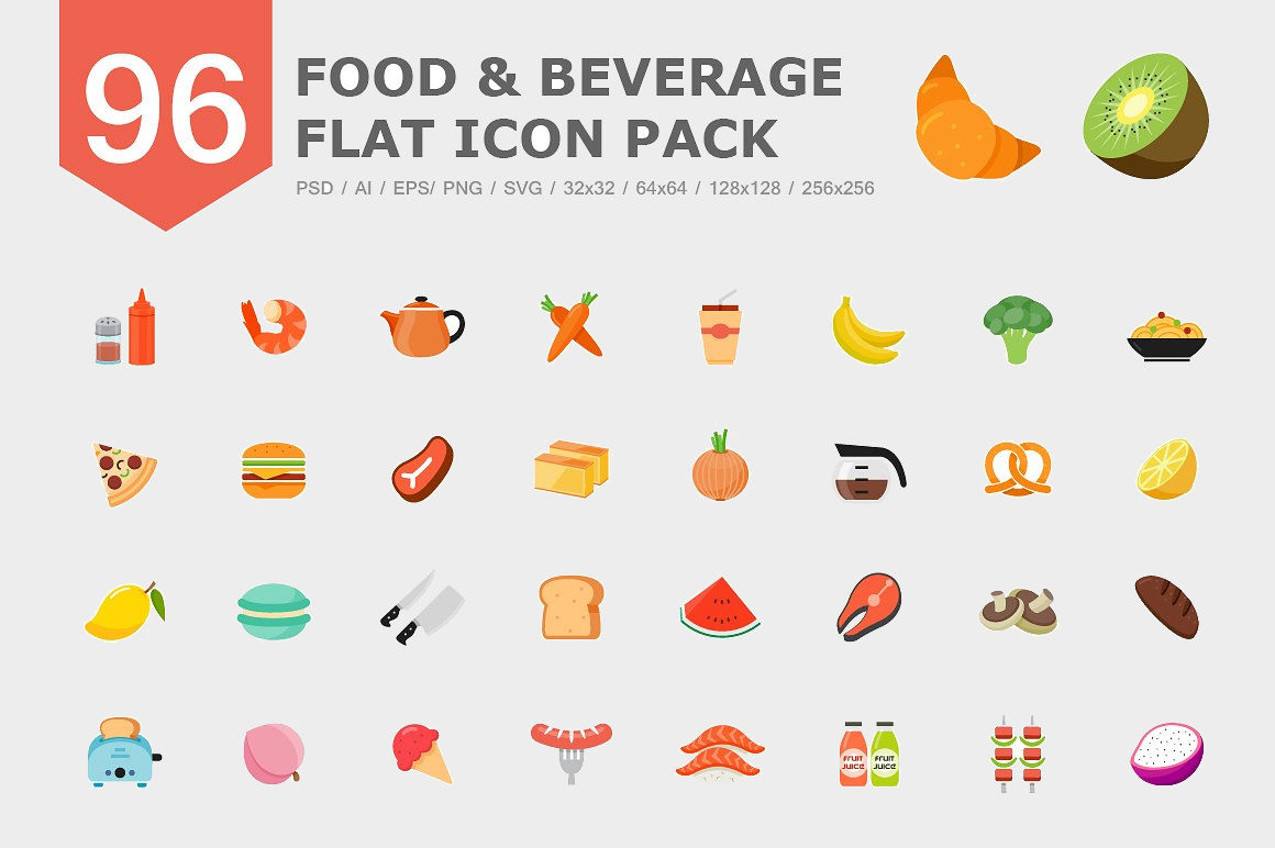 Food icons design trends premium psd vector downloads