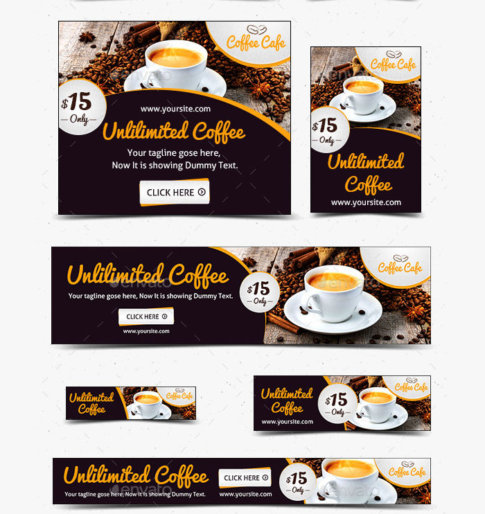 food and coffee web banner