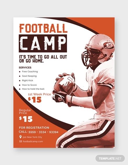 football camp flyer