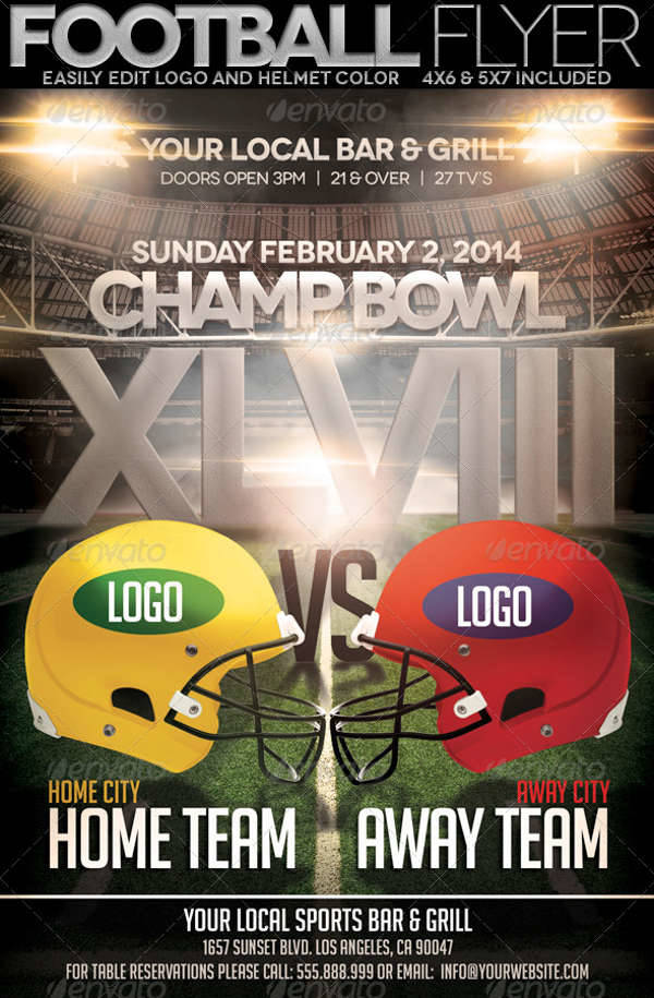 football championship bowl flyer