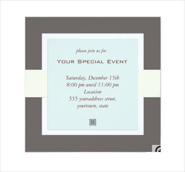 Formal Business Invitation Card