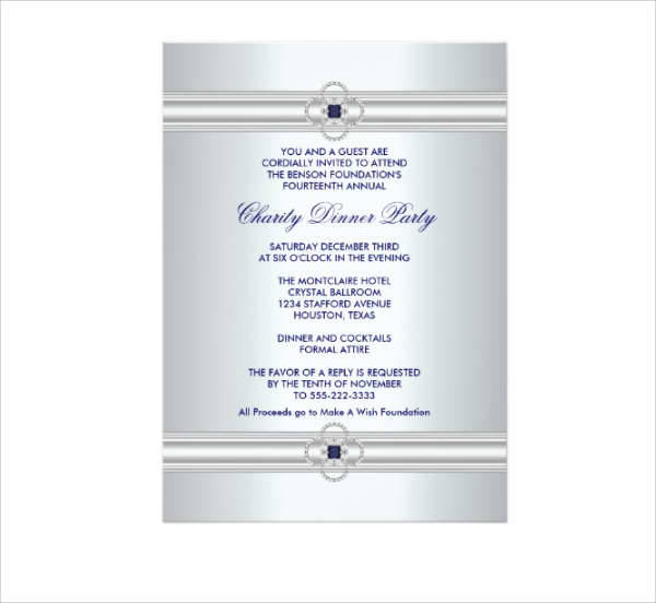 Formal Business Party Invitation