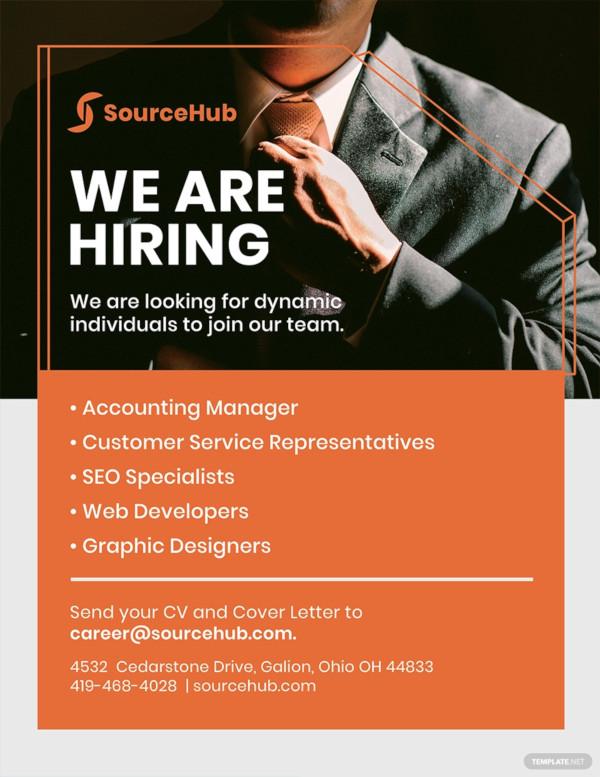 free recruitment flyer