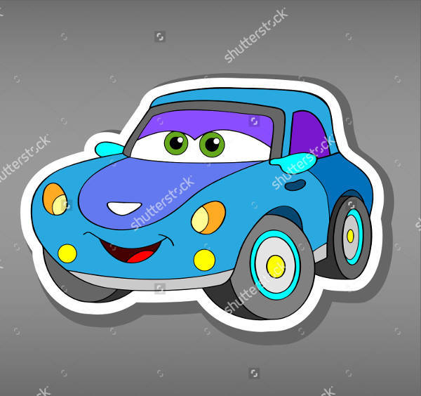 Funny Car Sticker