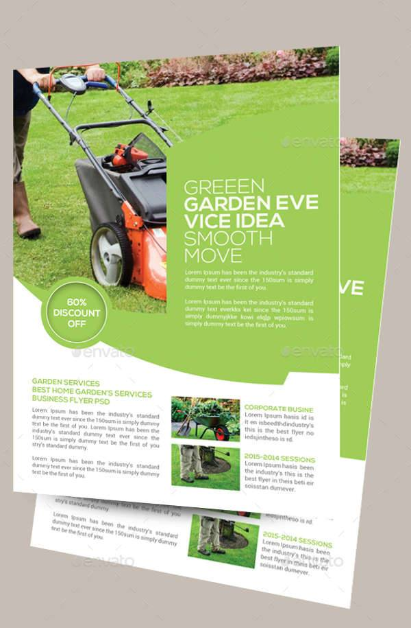 Garden Service Flyer PSD