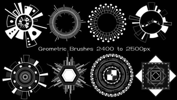 Geometric Circle Brushes