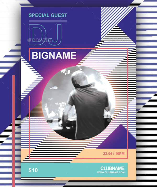 Geometric Design DJ Flyer