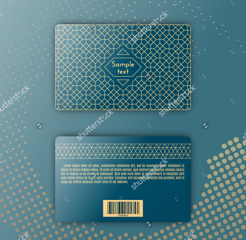 geometric pattern membership card design