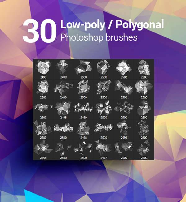 geometric polygonal brushes