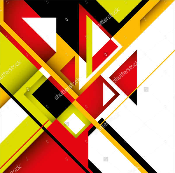 geometrical abstract design illustration