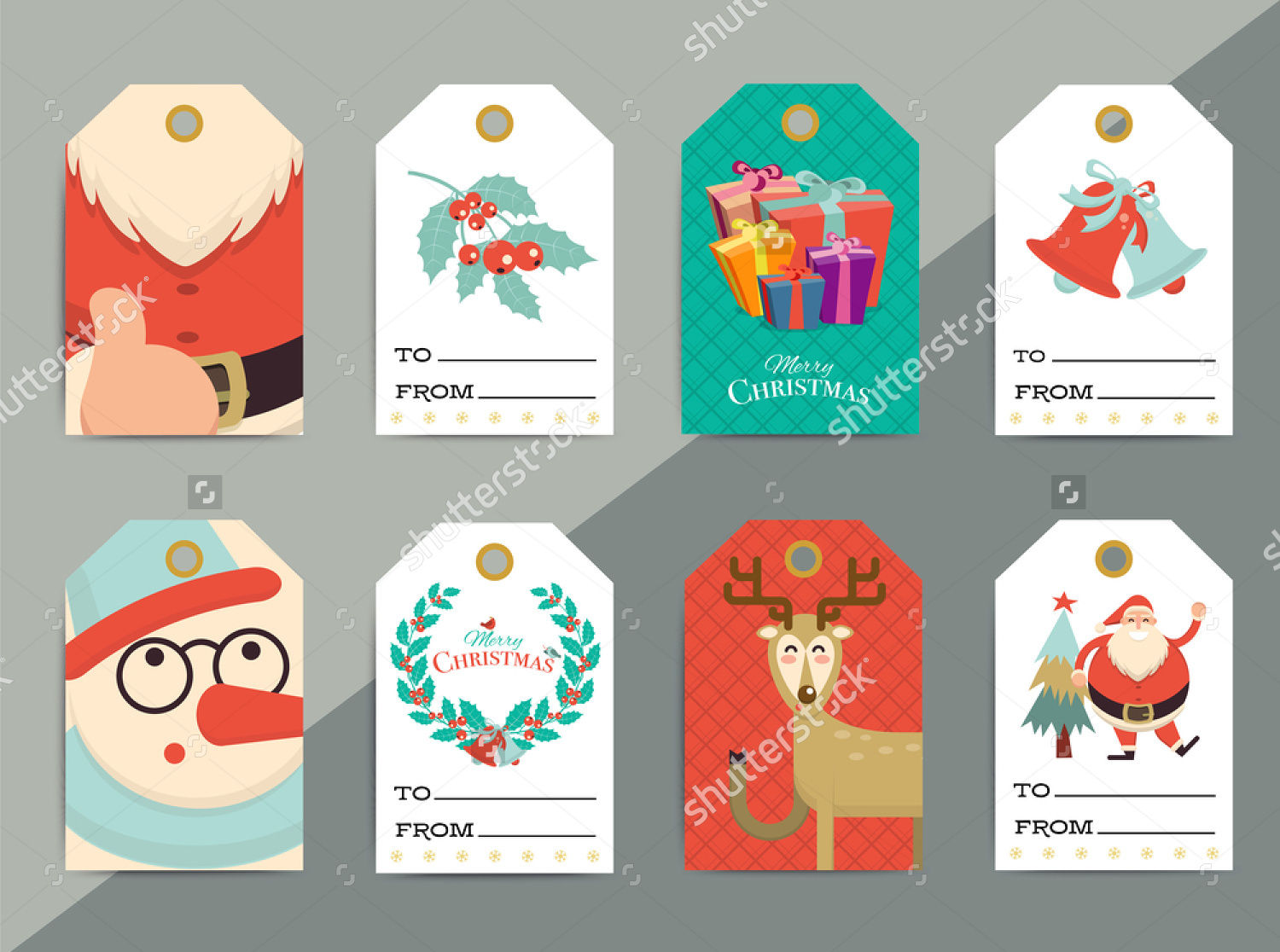 gift tags labels design