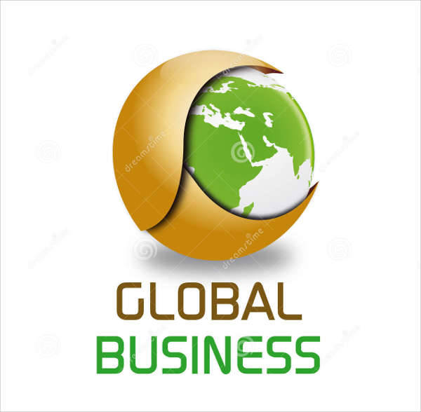 global business logo design