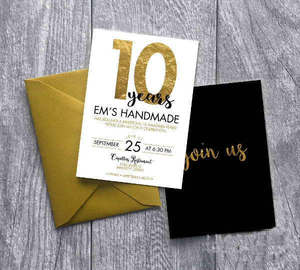 Gold Business Event Invitation