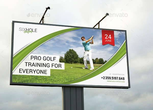 Golf Event Outdoor Banner