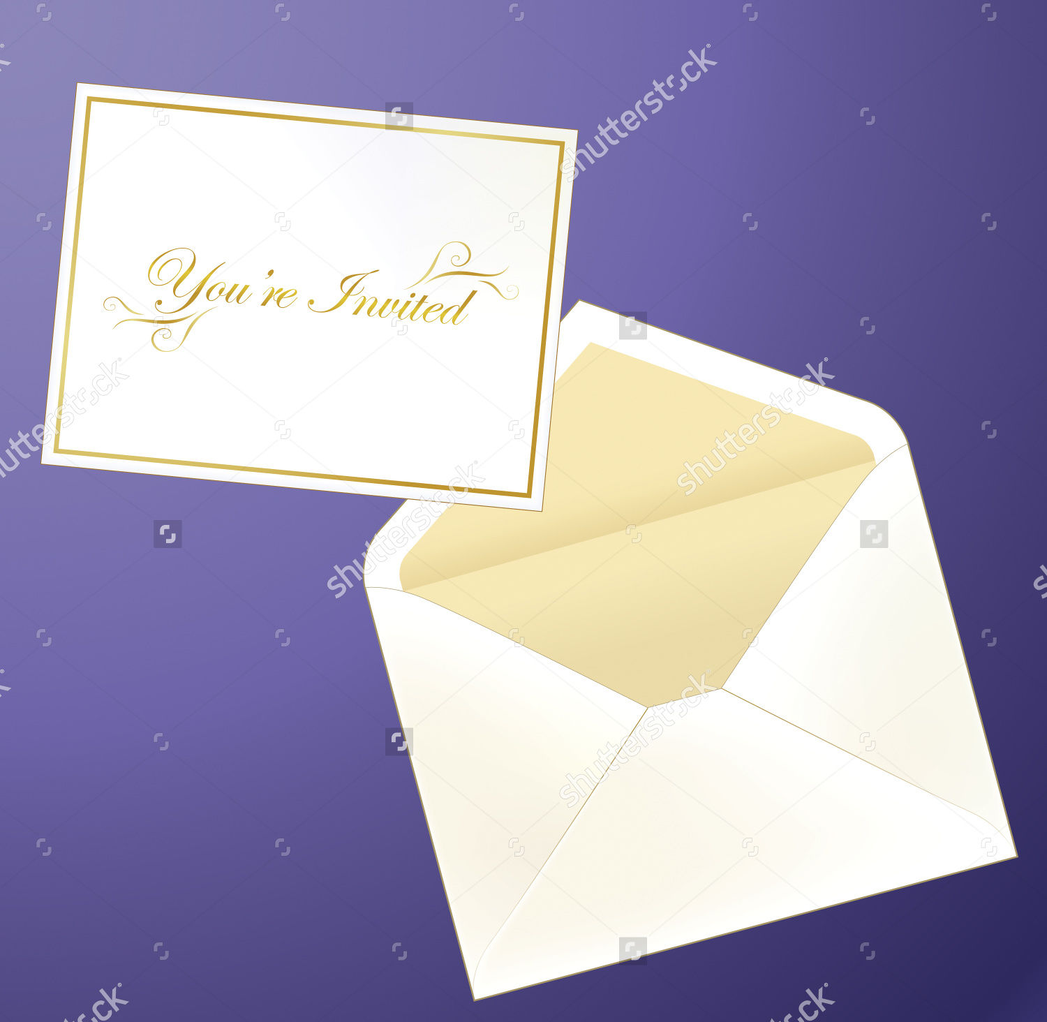 Golf Invitation Card Envelope