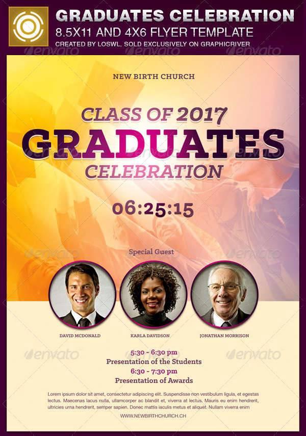 graduates celebration church flyer