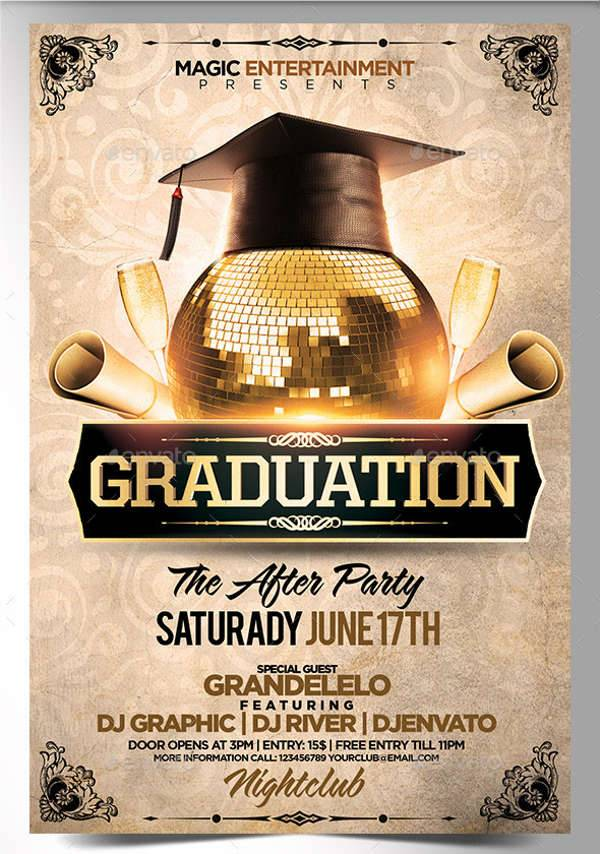Graduation After Party Flyer