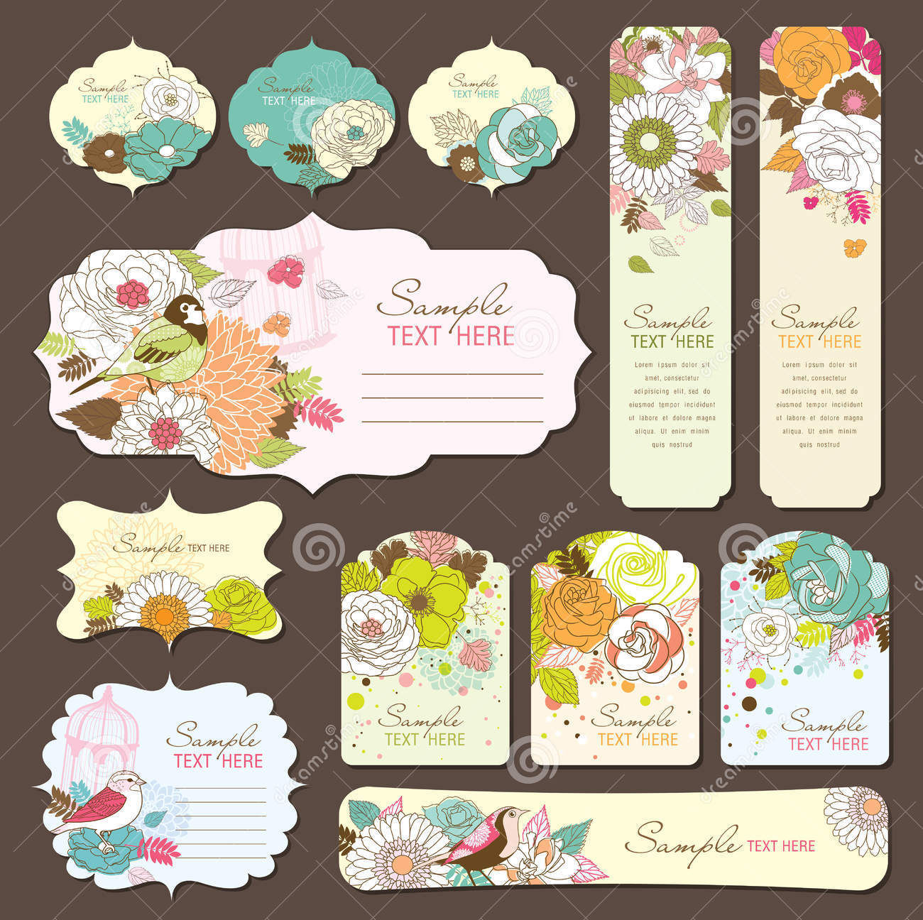 greeting card gift tag design