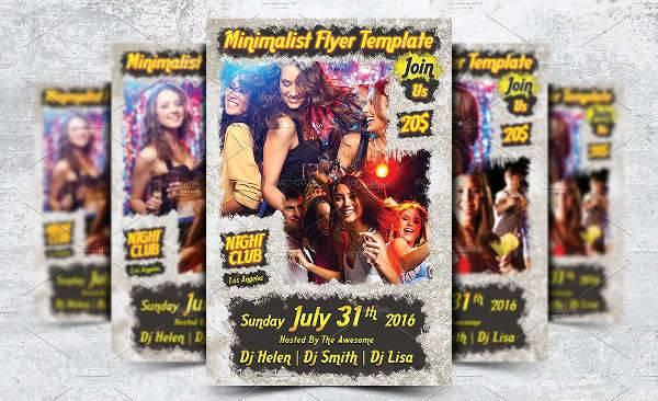 Grunge Retro Party Flyer