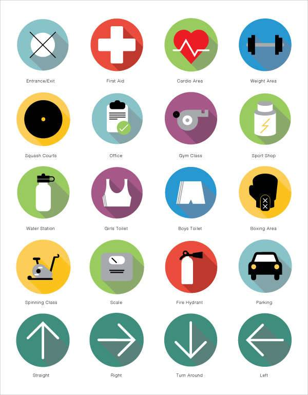 Gym Company Icons