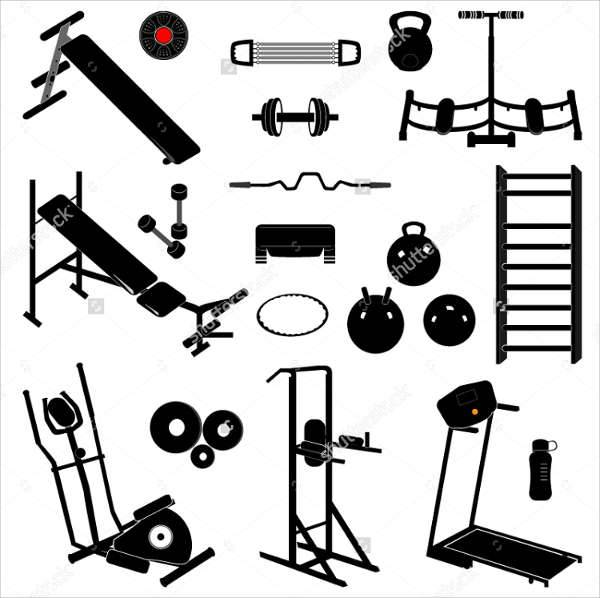 Gym Equipment Icons