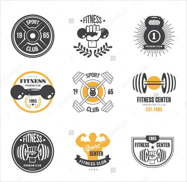 gym fitness logo badges