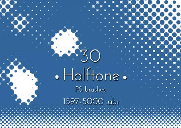 halftone dot brushes