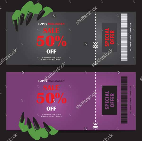 Halloween Coupon Template