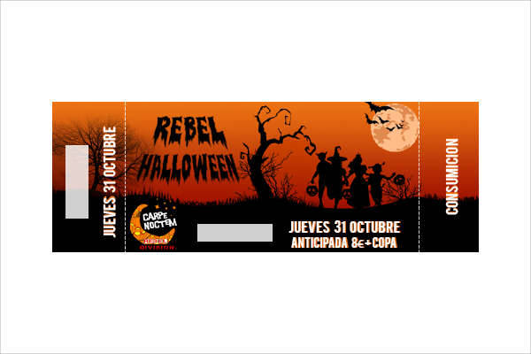 Halloween Party Flyer and Ticket