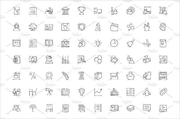 Hand Drawn Education Icons