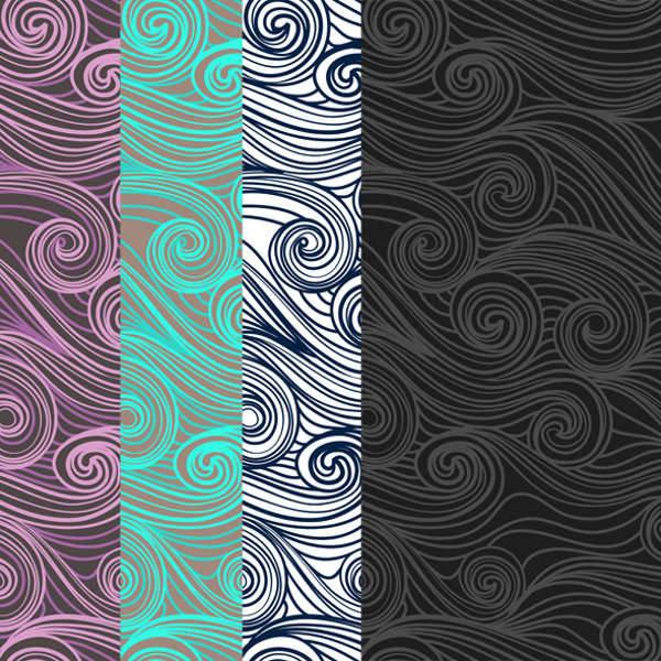 hand drawn waves patterns