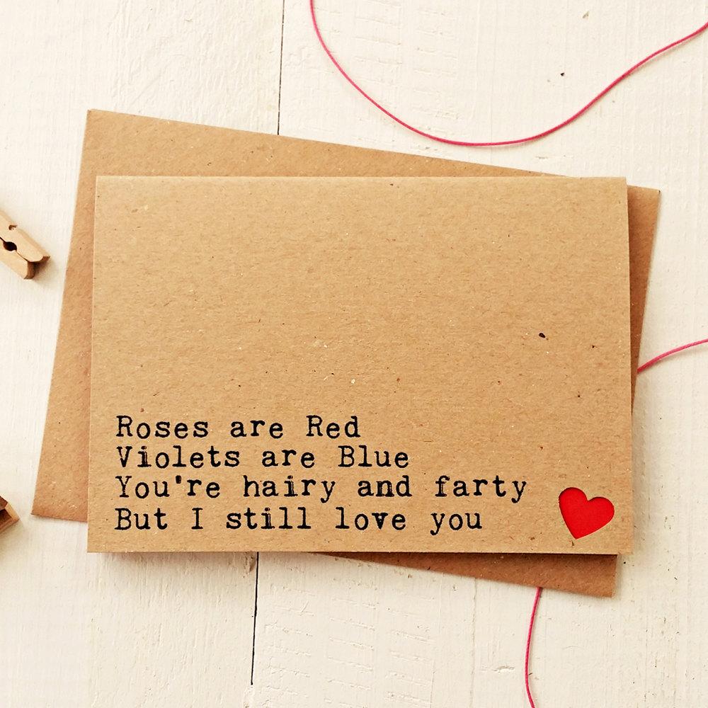 handmade funny love card