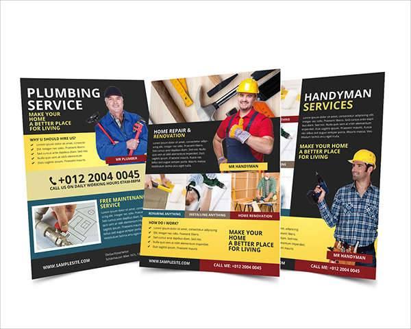 Handyman & Plumbing Service Flyer