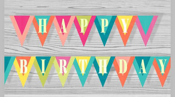 Happy Birthday Celebration Banner