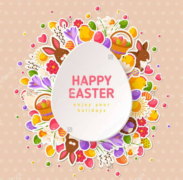 Happy Ester Greeting Vector Illustration