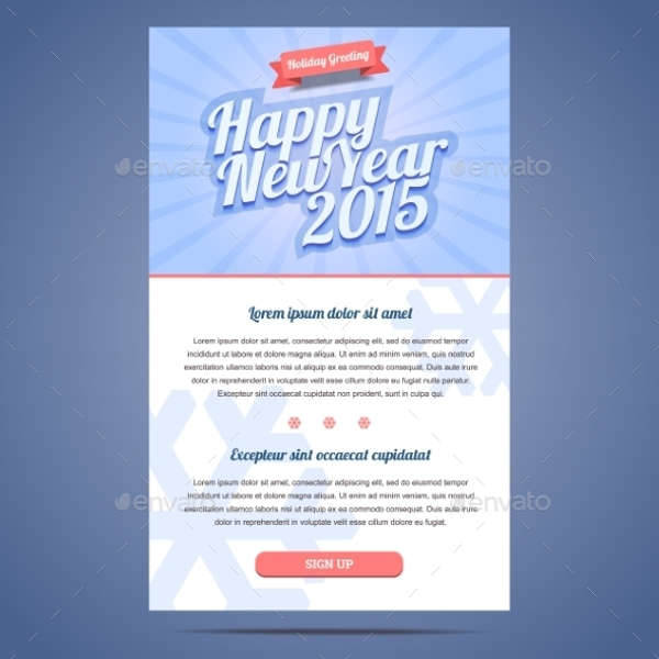 Happy New Year Holiday Email
