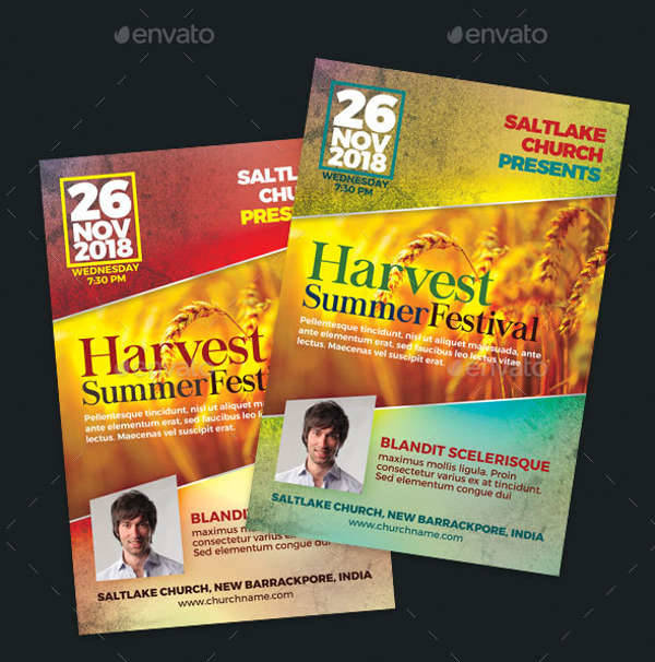 Harvest Summer Festival Flyer